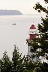 BC Canada West Coast lighthouse Pacific ocean ship