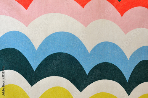 Colorful cloth with curves pattern