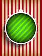 Merry Christmas Happy New Year Ball on Stripe Background