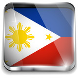 Philippines Flag Smartphone Application Square Buttons