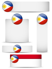 Philippines Country Set of Banners