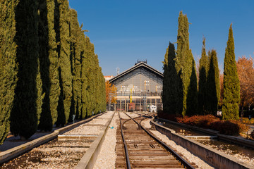 rear view of old Delicias station in Madrid, Spain