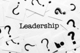 Leadership and question mark