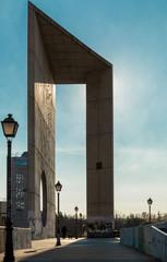 sculpture and lanterns, Madrid, Spain