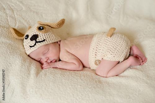 funny little newborn