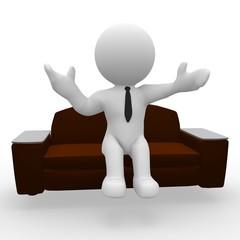 Entspannt auf dem Sofa