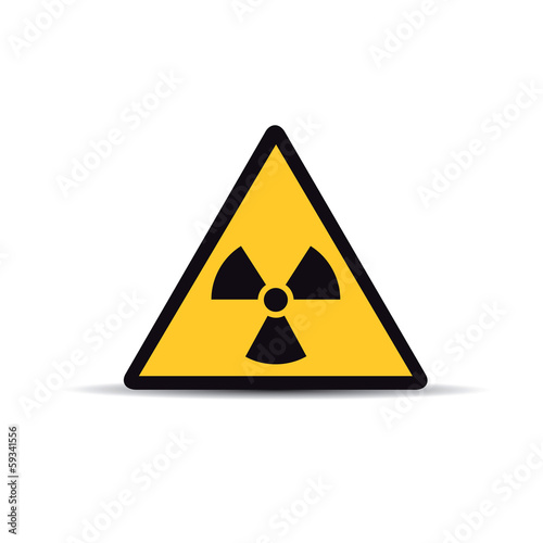 Sign of radiation on white