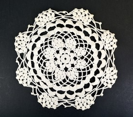 Embroidery doily