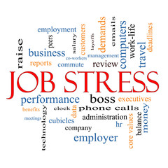 Job Stress Word Cloud Concept