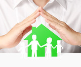 holding house representing home ownership poster