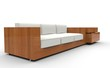 Wooden White Sofa