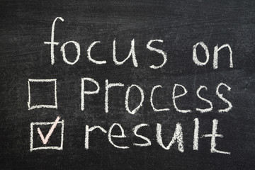 focus on result