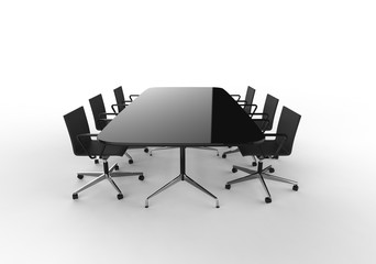 Black Business Meeting Table