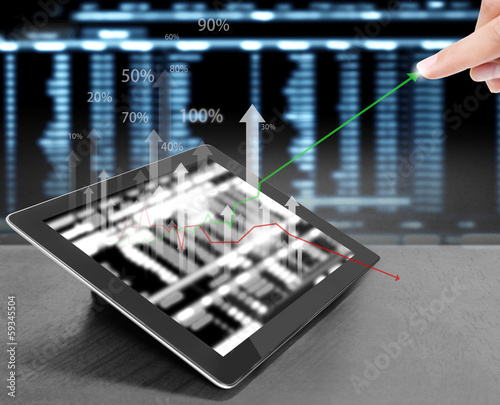touch screen tablet with  graph
