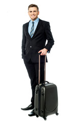 Corpoprate guy all set for business trip