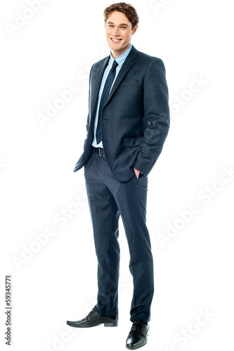 Young stylish smiling corporate guy