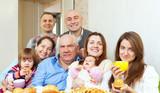 happy multigeneration family