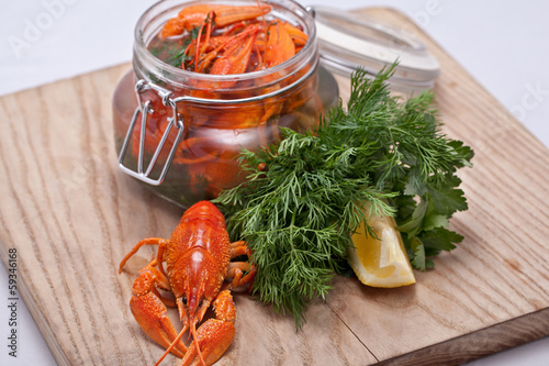 Crayfish in a jar
