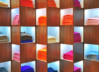 Colorful cashmere sweaters