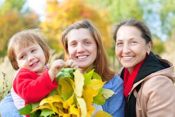 Portrait of three generations women
