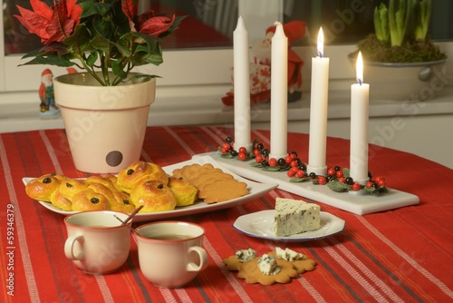 Swedish advent celebration