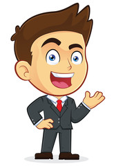 Welcoming Businessman