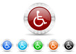 wheelchair icon christmas vector set