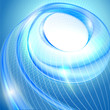 Blue spiral abstract background.