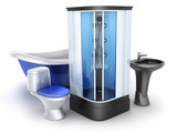 Moden bathroom equipment