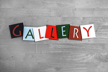 Gallery as a sign for art, culture and galleries