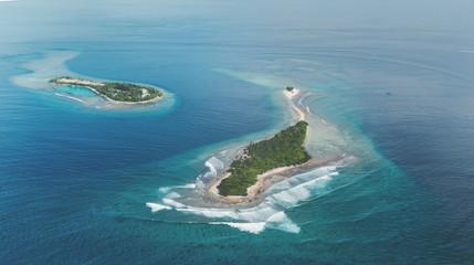 Two tropic Islands in Maldives region