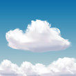 cloud on natural blue sky