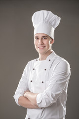 chef isolated on grey background