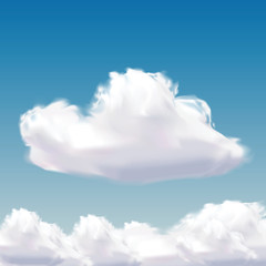 cloud on natural blue sky