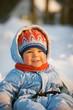 Small child in the winter