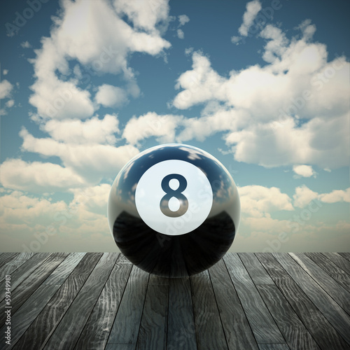 8 ball 3d illustration