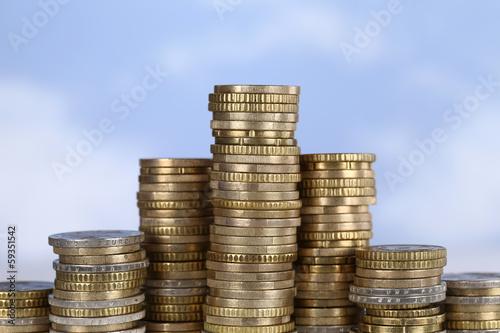 Münzen Diagramm Thema Erfolg, siegen und gewinnen
