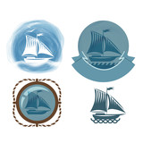 Ship icons. Vector format