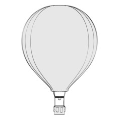 cartoon image of air balloon