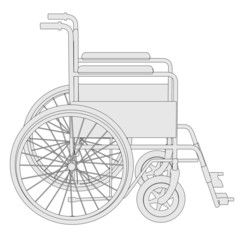 cartoon image of wheel chair