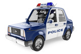 3D white people. Police car