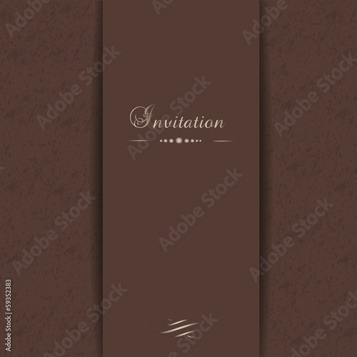 Elegant vector template for invitation