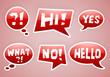 vector red speech bubbles