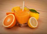 Fotoroleta Spremuta di arance e limoni
