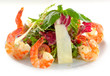 Frash salad with shrimp