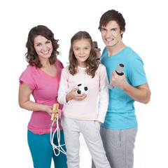 Sportliche Familie - family sports