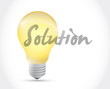 solution light bulb illustration design