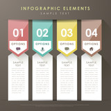 Fototapety abstract banner infographics