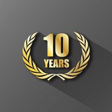 10 YEAR ANNIVERSARY Icon (years wreath prize birthday)