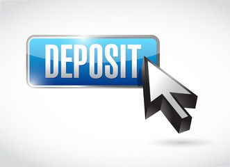 deposit button and cursor illustration